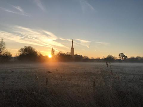 Marketing and pr agency Wiltshire, Swindon, Somerset, London. Sunset in Salisbury.