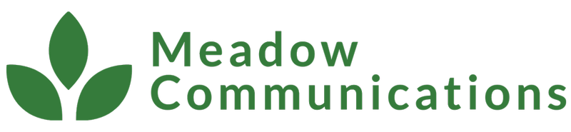 Meadow Communications marketing and pr agency. Green logo